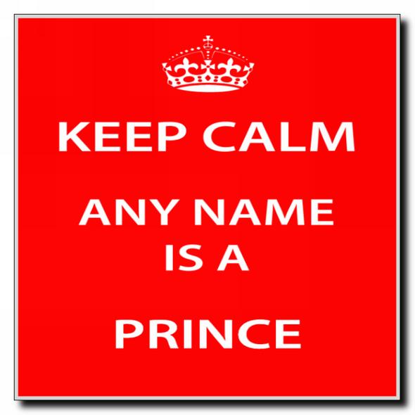 Prince Personalised Keep Calm Coaster