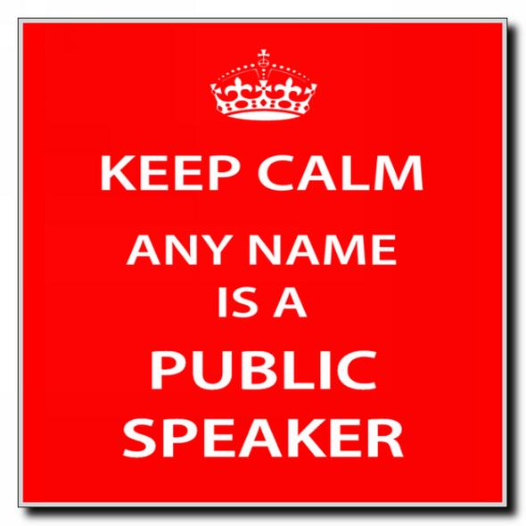 Public Speaker Personalised Keep Calm Coaster
