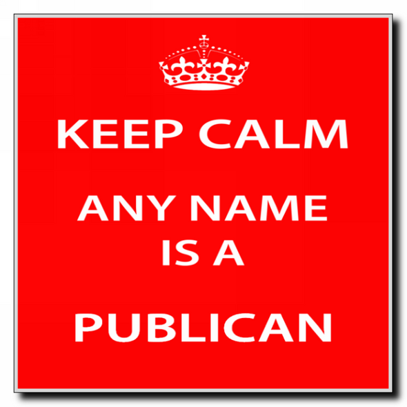 Publican Personalised Keep Calm Coaster