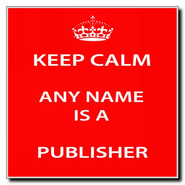 Publisher Personalised Keep Calm Coaster