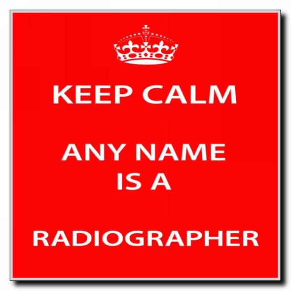 Radiographer Personalised Keep Calm Coaster
