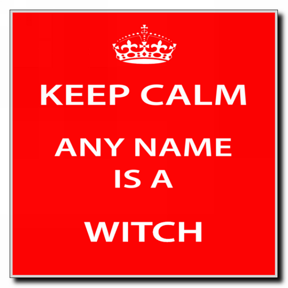 Witch Personalised Keep Calm Coaster