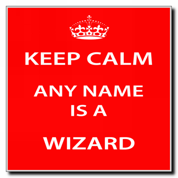 Wizard Personalised Keep Calm Coaster
