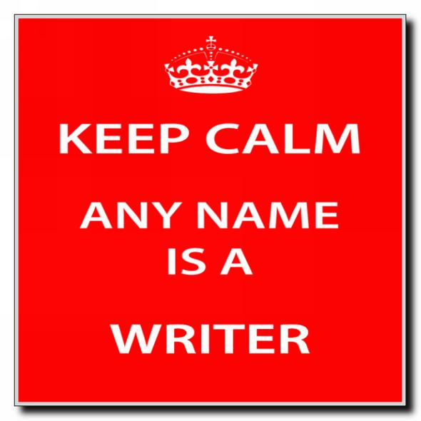 Writer Personalised Keep Calm Coaster