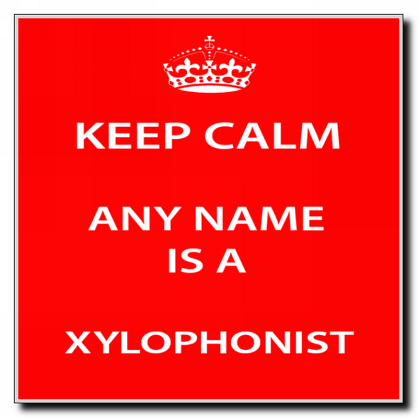 Xylophonist Personalised Keep Calm Coaster