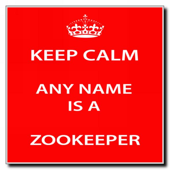 Zookeeper Personalised Keep Calm Coaster