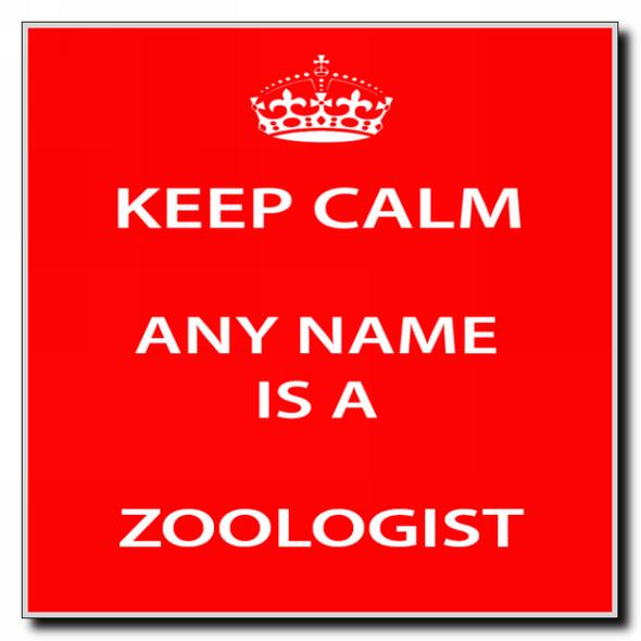 Zoologist Personalised Keep Calm Coaster