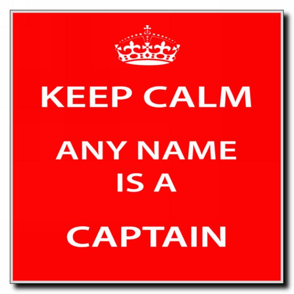 Captain Personalised Keep Calm Coaster