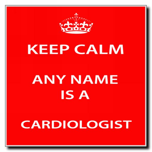 Cardiologist Personalised Keep Calm Coaster