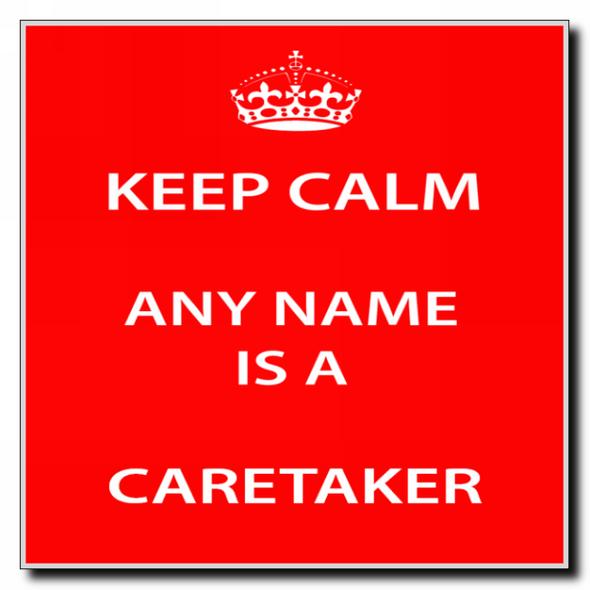 Caretaker Personalised Keep Calm Coaster