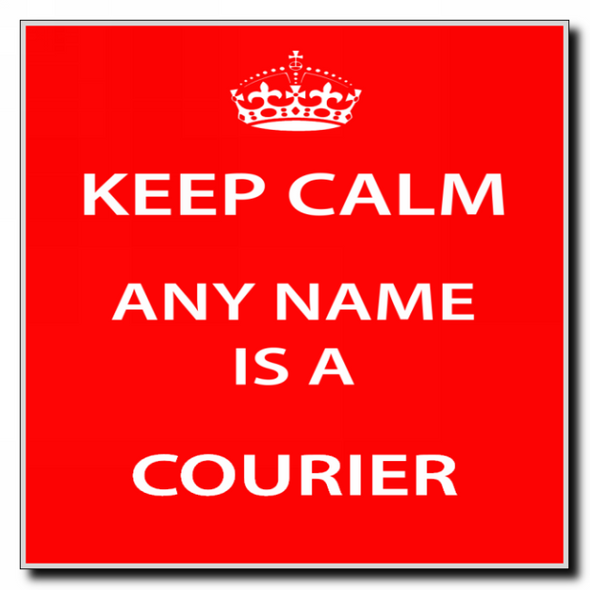 Courier Personalised Keep Calm Coaster