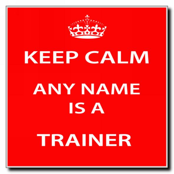 Trainer Personalised Keep Calm Coaster
