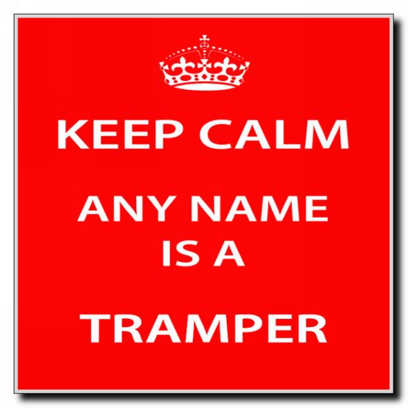 Tramper Personalised Keep Calm Coaster