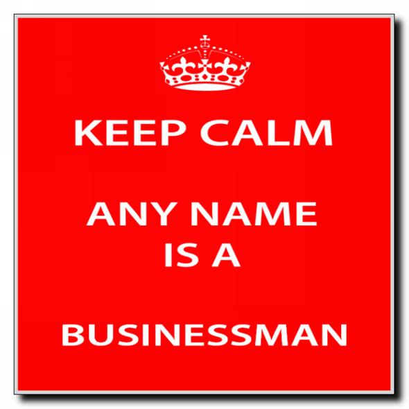 Businessman Personalised Keep Calm Coaster