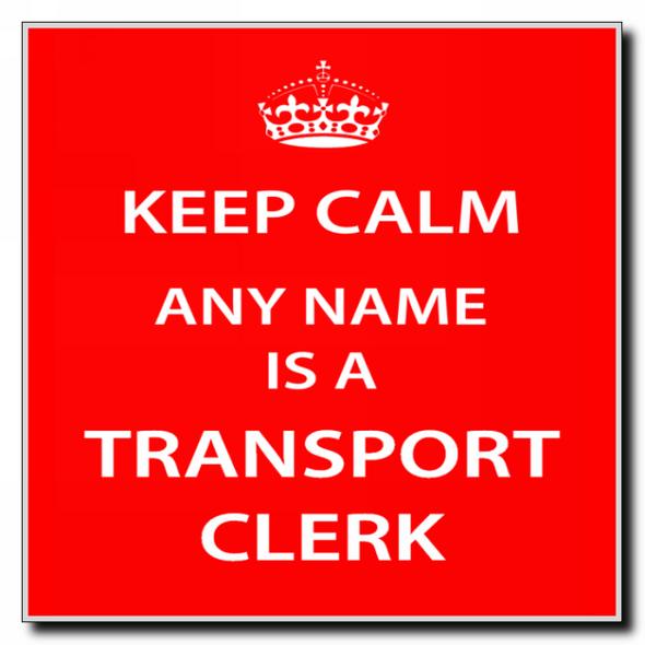 Transport Clerk Personalised Keep Calm Coaster