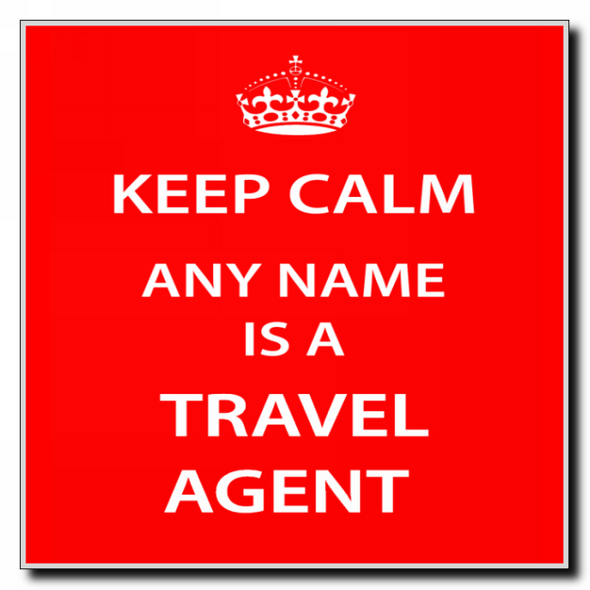 Travel Agent Personalised Keep Calm Coaster