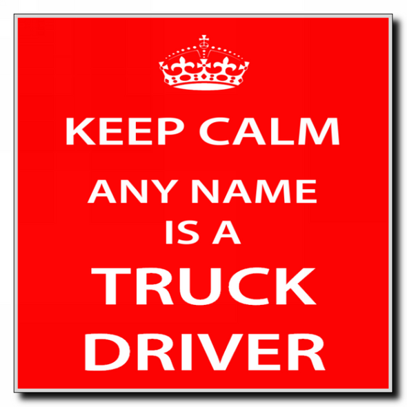 Truck Driver Personalised Keep Calm Coaster