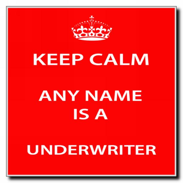 Underwriter Personalised Keep Calm Coaster