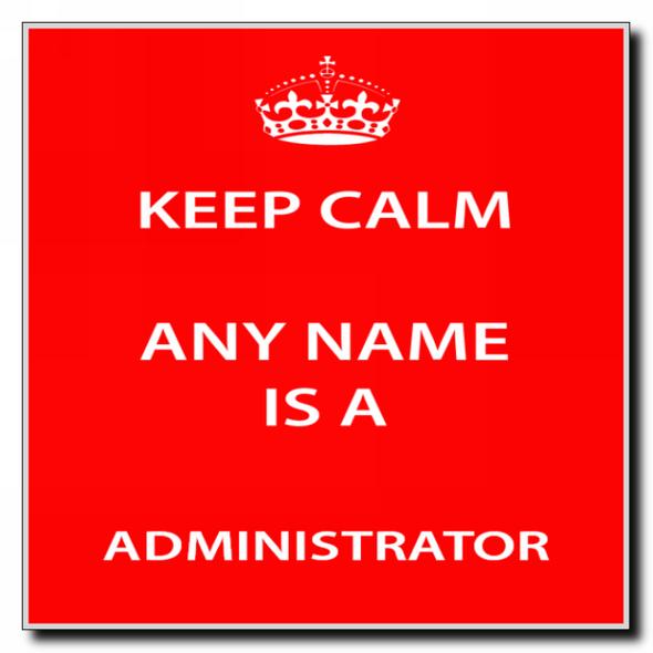 Administrator Personalised Keep Calm Coaster
