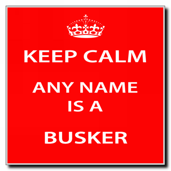 Busker Personalised Keep Calm Coaster