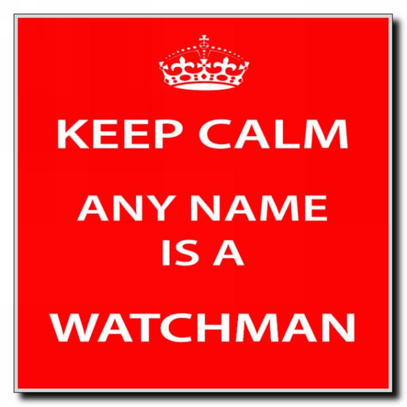 Watchman Personalised Keep Calm Coaster