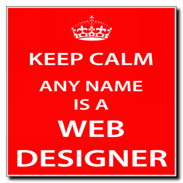 Web Designer Personalised Keep Calm Coaster