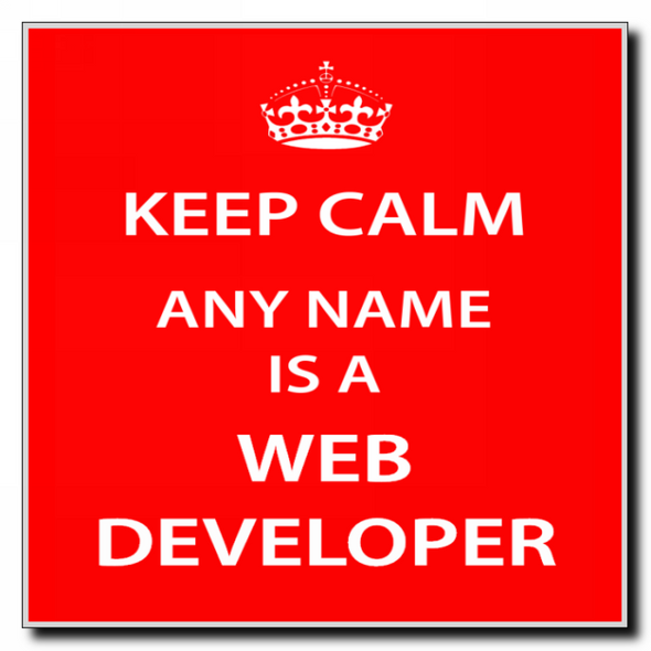 Web Developer Personalised Keep Calm Coaster