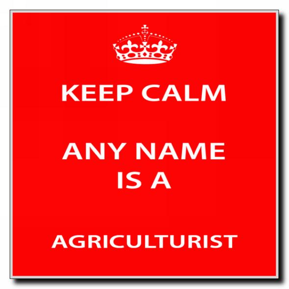 Agriculturist Personalised Keep Calm Coaster
