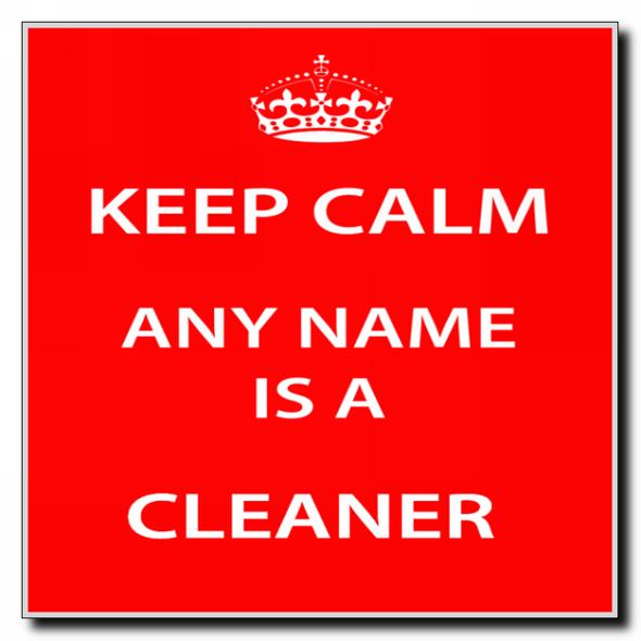 Cleaner Personalised Keep Calm Coaster