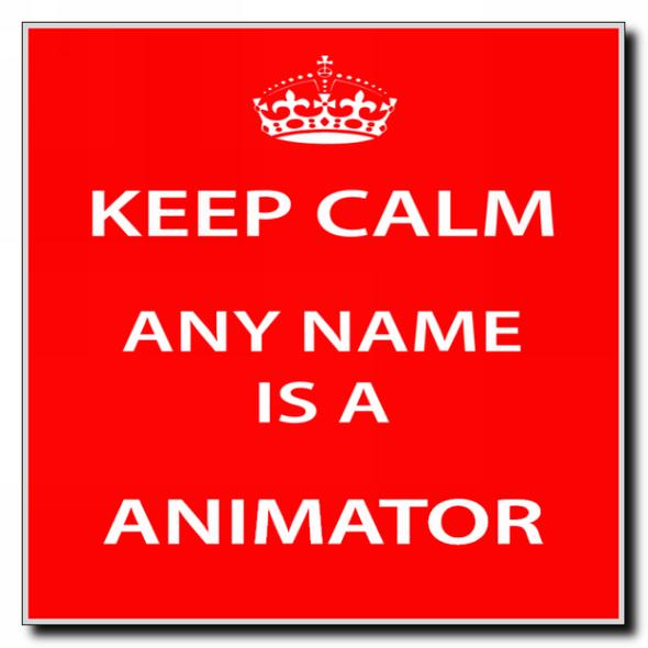 Animator Personalised Keep Calm Coaster