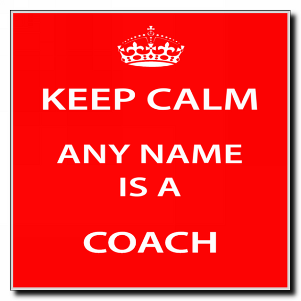 Coach Personalised Keep Calm Coaster