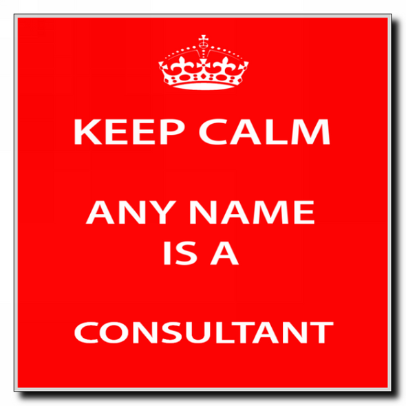 Consultant Personalised Keep Calm Coaster