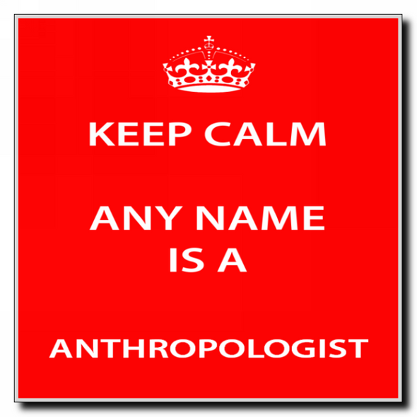 Anthropologist Personalised Keep Calm Coaster