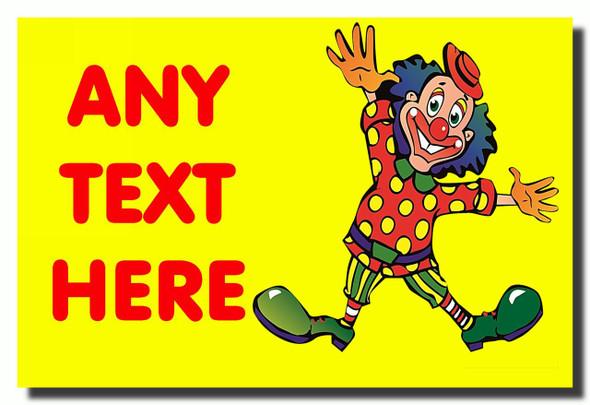 Funny Clown Personalised Jumbo Fridge Magnet