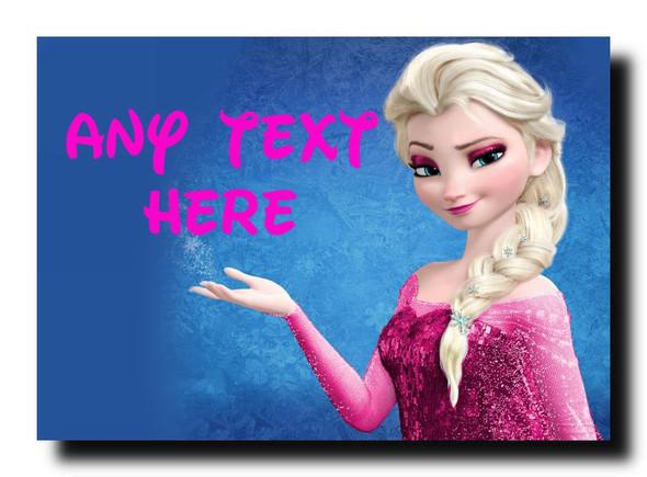 Elsa Frozen Pink Personalised Jumbo Magnet