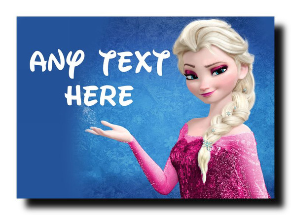 Elsa Frozen Personalised Jumbo Magnet