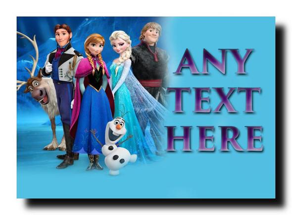 Frozen Anna Elsa Olaf Personalised Jumbo Magnet