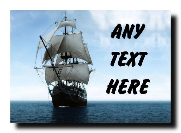 Pirate Ship Personalised Jumbo Magnet