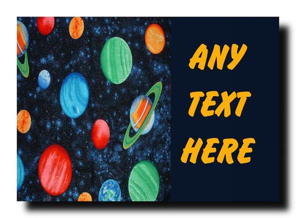 Planets Stars Space Personalised Jumbo Magnet