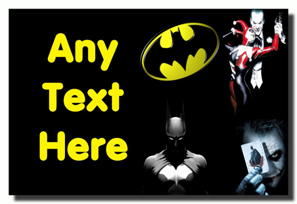 Batman Joker Personalised Jumbo Fridge Magnet