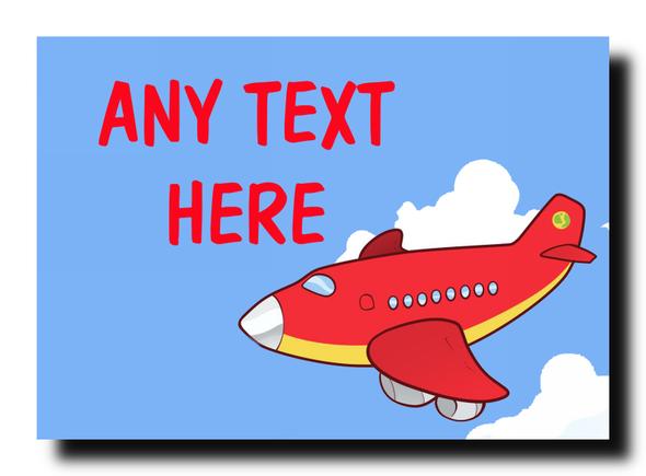 Red Plane Personalised Jumbo Magnet