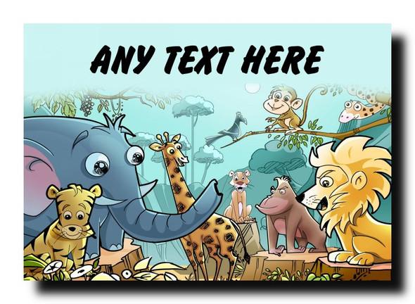 Animal Jungle Personalised Jumbo Magnet