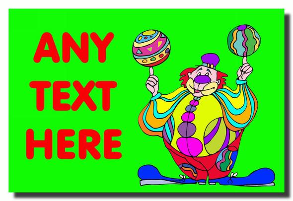 Green Clown Personalised Jumbo Fridge Magnet