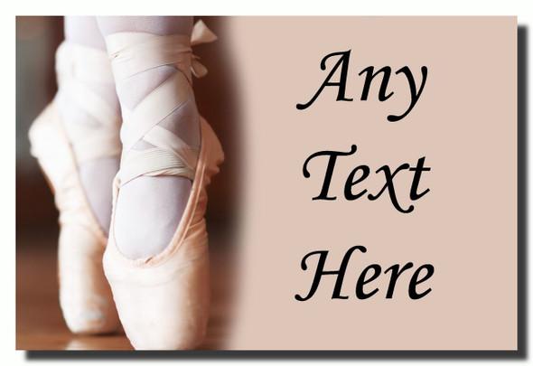 Pretty Ballet Ballerina Personalised Jumbo Fridge Magnet