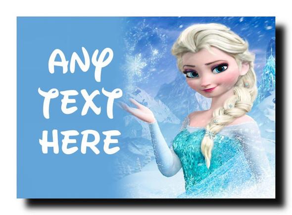 Frozen Elsa Personalised Jumbo Magnet