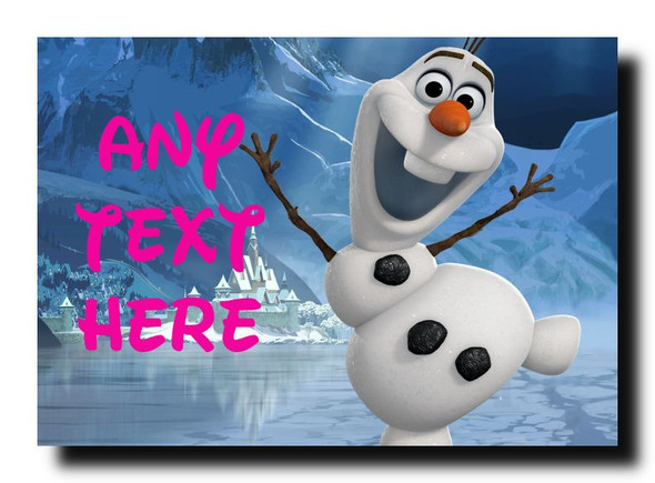 Olaf Frozen Personalised Jumbo Magnet