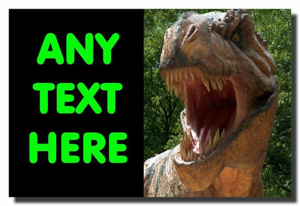 T Rex Dinosaur Personalised Jumbo Fridge Magnet