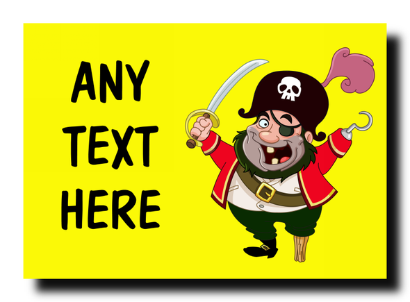 Yellow Pirate Personalised Jumbo Magnet