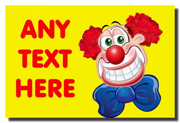 Clown Personalised Jumbo Fridge Magnet