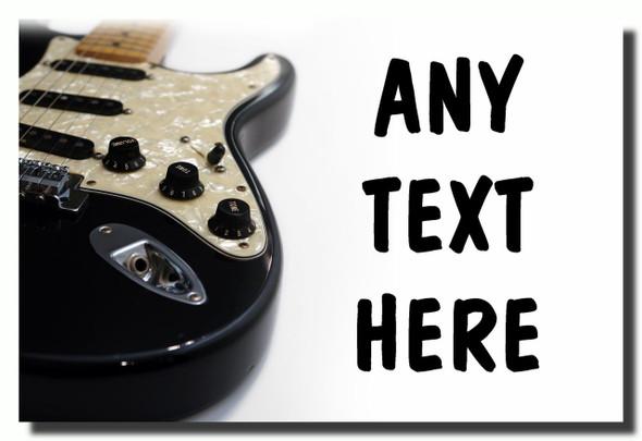 Electric Guitar Personalised Jumbo Fridge Magnet